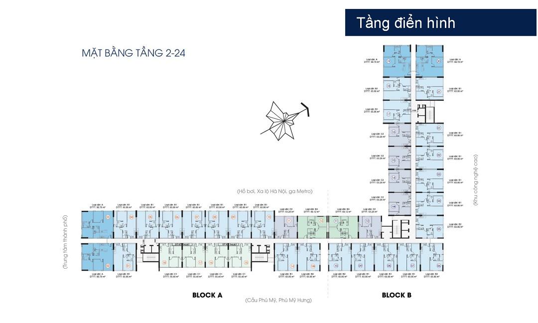 Mặt bằng tổng thể dự án Saigon Gateway